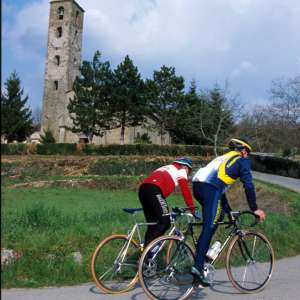 Cyclists in San Cresci (Borgo San Lorenzo)