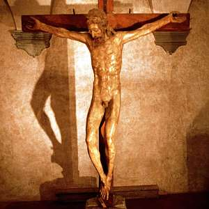 The Donatello wooden crucifix in Bosco ai Frati Convent (San Piero a Sieve)