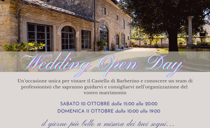 wedding open days al Castello di Barberino 10 11 Ottobre 2020